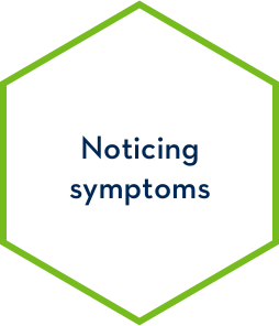 Noticing symptoms